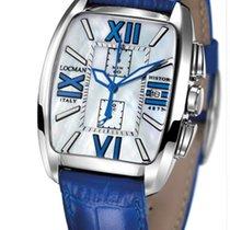 Locman History 487N00MWFBL0PSB Chronograph Pearl Blue Men