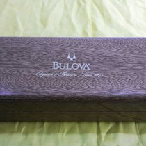 Bulova vintage wooden watch box