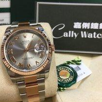 Rolex Cally - 116231 36MM Datejust Rose gold Steel Rhodium Roman