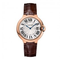 Cartier Ballon Bleu 40mm Rose Gold on Leather Strap