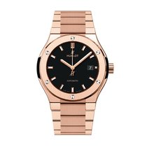 Hublot Classic Fusion 42mm Automatic 18K King Gold Mens Watch...