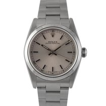 Rolex Oyster Perpetual Midsize Silver Dial Ref: 77080 With Papers