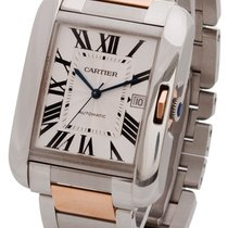 Cartier Tank Anglaise X-Large Auto 18k Gold & Steel Links...