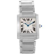 Cartier Tank Francaise Midsize Quartz Date Womens Watch W51011q3