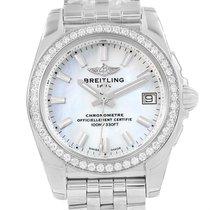 Breitling Galactic 36 Mop Dial Diamond Ladies Watch W74330 Unworn