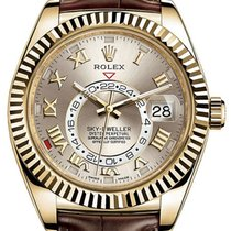Rolex Sky-Dweller 326138 Champagne 42mm GMT 18k Yellow Gold...