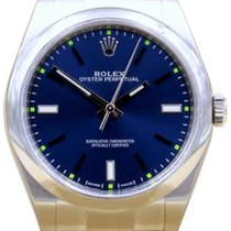 Rolex Oyster Perpetual 39mm 114300 Stainless Steel Blue Index...
