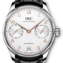 IWC Portugieser Automatic iw500704 7 Days Power Reserve Silver...