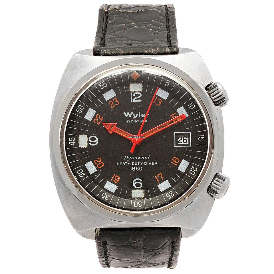 Wyler Geneve Code R 100 1 00 Wb1 Lbr Mens Watch