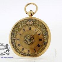 JEAN MOILLIET Geneve Pocket Watch Spindel Onion Verge Fusee...