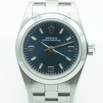 Rolex Oyster Perpetual Lady Blue Dial Stainless Steel Oyster Band