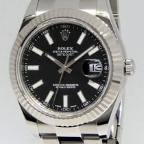 Rolex Datejust II Stainless Steel 18k White Gold Mens Watch...