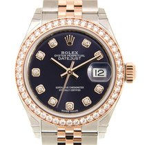 Rolex Lady Datejust 18k Gold Diamond Steel Brown Automatic...