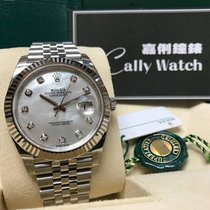 Rolex Cally - {2017 New} Datejust 41mm 126334NG White MOP dial