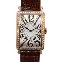 Franck Muller Long Island Pink Gold Diamond Silver Quartz 952...