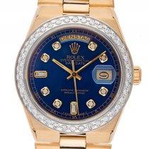 Rolex Day-Date Oysterquarz Custom 18kt Gelbgold Diamond Quarz...