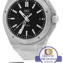 IWC Ingenieur Black 40mm Stainless Date Watch IW323902 3239 3239