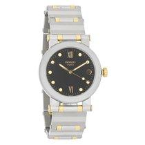 Movado Vizio Mens 18k Gold Stainless Steel Swiss Quartz Watch...