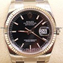 Rolex Datejust, Ref. 116234 - schwarz Index Zifferblatt/Oyster...