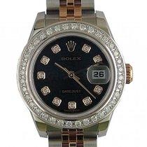 Rolex Datejust Lady Stahl Roségold Diamond Automatik Armband...