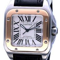 Cartier Santos 100 Medium Rose Gold Steel Roman Dial (45 x 35 mm)