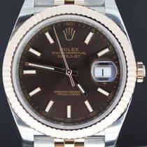 Rolex Datejust II Gold/Steel Choco Dial 41MM Jubilee Full Set