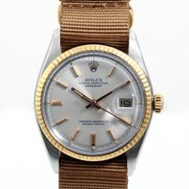 Rolex Mens 2tone Non Quickset Datejust - Silver Pie Pan Dial -...