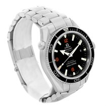 Omega Seamaster Planet Ocean Xl Orange Numbers Mens Watch...