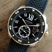 Cartier Calibre de Cartier Diver Full Set Gold Steel