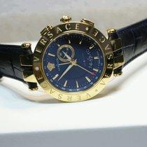 Versace V-Race Dual Time Alarm men's watch unworn