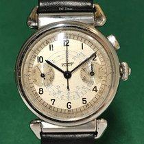 天梭 (Tissot) Chronograph White Dial with Leather Strap