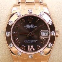 Rolex Pearlmaster, Ref. 81315 - braun römisches IV Diamant ZB