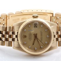 Rolex Midsize 18K Yellow President - Champagne Diamond Dial -...