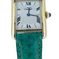 Cartier Must De Tank Vermeil Qtz Ladies .925 G/P