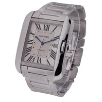 Cartier W5310025 Tank Anglaise in White Gold - Large Size - on...