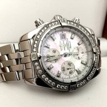 Breitling Chronomat Evolution Pearl Dial Diamond Bezel (Full Set)