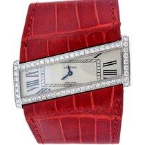 "Cartier ""Diagonale Divan"" 18k White Gold & Diamond Cuff..."