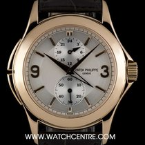 Πατέκ Φιλίπ (Patek Philippe) 18k R/G Silver Dial Travel Time...