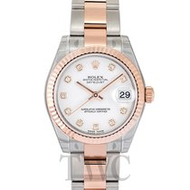 ロレックス (Rolex) Datejust Lady 31 White/18k Rose Gold Oyster 31mm...