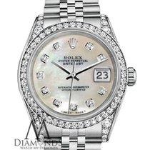 Rolex Ladies Rolex Datejust 26mm Steel White Mop Mother Of...
