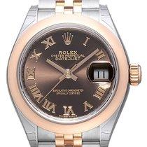 Rolex Datejust 28 279161 Edelstahl Everose‑Gold Choco Römisch...