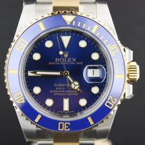 Rolex Submariner Date Gold/Steel Blue Dial 40MM Full Set