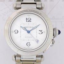 Cartier Pasha Date Automatic Stahl Glasboden Klassiker...