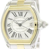 Cartier Polished Cartier Roadster 18k Gold Steel Automatic...