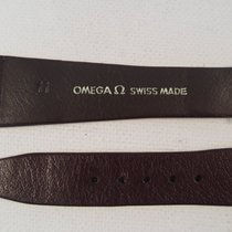 Omega 20 mm brown Omega strap (new) original gold plated buckle