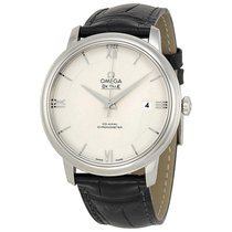 Omega De Ville Prestige Leather Strap Mens Watch 424.13.40.20....