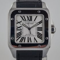 Cartier Santos 100, Mens, X Large, Stainless Steel, 2656,...