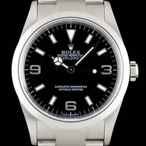 Rolex S/Steel Unworn Black Dial Explorer I NOS Gents B&P...
