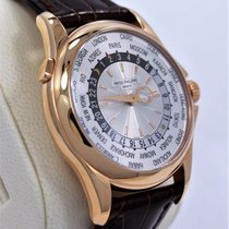 Patek Philippe 5130r 18k Rose Gold World Time Mechanical...