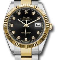 Rolex Datejust , Ref. 126333 - schwarz Diamant ZB/Oysterband